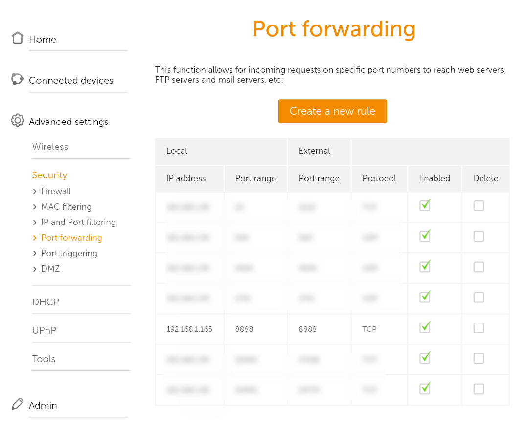 Router forwarding result